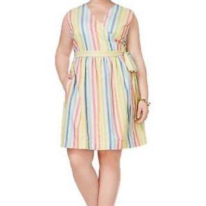 Tommy Hilfiger Striped wrapped dress size 14